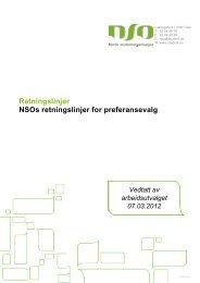 NSOs retningslinjer for preferansevalg - Norsk studentorganisasjon