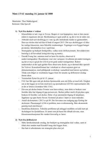 Referat møte 140113 - Veitvet skole