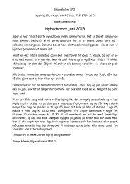 Nyhedsbrev juni 2013 - Stjærskolen
