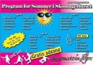 Program for Sommer i Skomagerhuset Gratis adgang