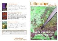 Europa i litteraturen / Nyere skønlitteratur / PDF-liste - Litteratursiden