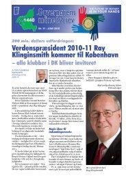 Guvernørens månedsbrev - Rotary Danmark