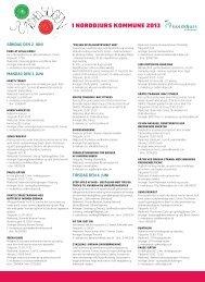 program for Sundhedsugen 2013 - Norddjurs Kommune