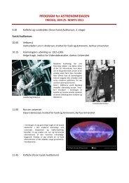 Astronomidag, onsdag den 2 - Institut for Fysik og Astronomi ...