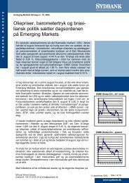 liansk politik sætter dagsordenen å Emerging Markets p - Sydinvest