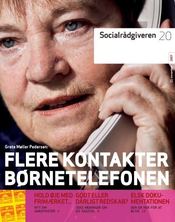 Socialrådgiveren nr. 20-2007 - Dansk Socialrådgiverforening