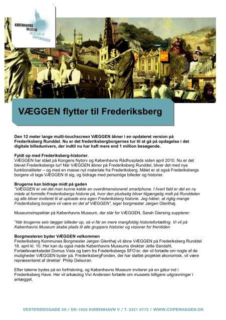 VÆGGEN åbner på Frederiksberg - Københavns Museum