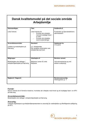 Dansk kvalitetsmodel p det sociale omrde - Dansk kvalitetsmodel på ...