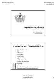 Helle Heins powerpoint (tilsendt som pdf-fil) fra TR-kurset 2012