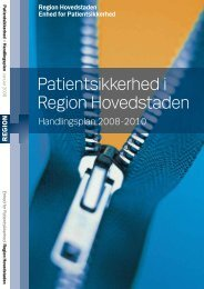 2010 for patientsikkerhed i Region Hovedstaden