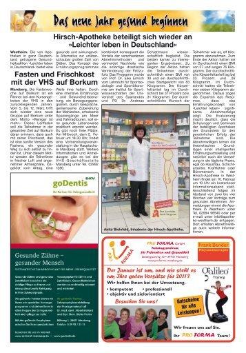 Hirsch-Apotheke beteiligt sich wieder an »leichter ... - Diemelbote
