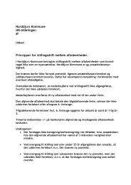 Principper for håndtering af stillingsskift - Norddjurs Kommune