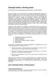 Strategisk ledelse i offentlig praksis - Lederweb