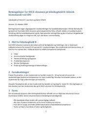 Retningslinjer for OSCE-eksamen på klinikophold B i klinisk ...