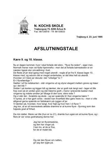 tale 1995 - N. Kochs Skole