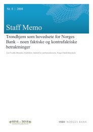 Staff Memo 2008/8 - Norges Bank