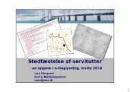 Præsentation, Stedfæstelse af servitutter (marts 2010) - Kort