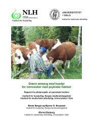 Grønn omsorg med husdyr for mennesker med psykiske ... - Matmerk