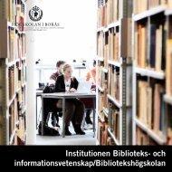 Institutionen - Högskolan i Borås