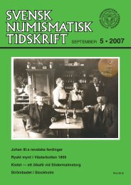 SEPTEMBER 5 • 2007 - Svenska Numismatiska Föreningen