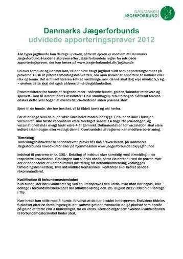 Udvidede apporteringsprøver - Danmarks Jægerforbund