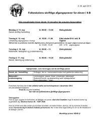 9.b skriftlige og mdlt prøver 2013 - Holmeagerskolen