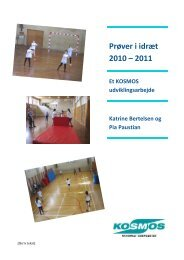 Prøver i idræt 2010 – 2011
