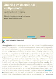 Nasjonalt kunnskapssenter for helsetjenesten - Ansatt.hig.no
