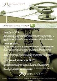 Hvorfor PLI™? Hvad er PLI™? Hvordan administreres PLI™?