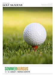 Sommerkursus - Dansk Golf Akademi