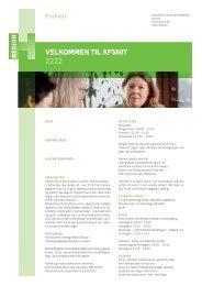 Velkommen til afsnit 2222.pdf - Region Hovedstadens Psykiatri