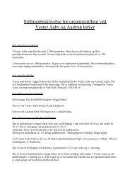 Stillingsbeskrivelse kan ses på kirkernes hjemmeside