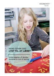 Læs megafonmålingen af skolebørns lyst til læring ... - Egmont Fonden