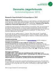 Danmarks Jægerforbunds forårsmarkprøver 2013 - Fjd