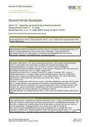 Generel Klinisk Studieplan