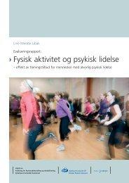 Fysisk aktivitet og psykisk lidelse - Fritid For Alle