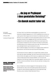 """ ... da jeg er Psykopat i den genialske Retning!"" - En ... - Historie-nu.dk"