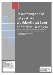 En undersøgelse af det psykiske arbejdsmiljø på Eden Alternative ...