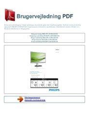 Brugsanvisning PHILIPS 241P4LRYEB - Brugervejledning