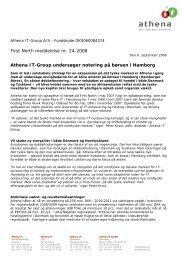First North meddelelse nr. 24-2008 - Athena