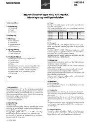 Tagventilatorer type HJV, HJA og HJL Montage og ... - Novenco