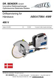 SQUATINA 400 - Dr. Bender GmbH