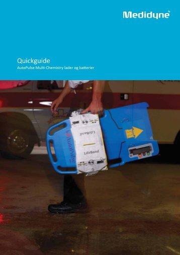 AutoPulse – Quickguide batterier - Medidyne ApS