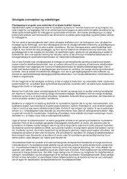 Detailhandelsudvalgets overvejelser og anbefalinger - DSK