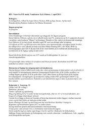 Referat-Noter fra FIF møde 1. april 2011 - Byer i vandbalance