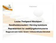 Præsentation af Stop Vægten - Lemvig Kommune