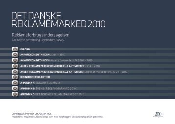 DET DANSKE REKLAMEMARKED 2010 - Danmarks Medie- og ...
