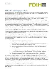 pressemeddelelse inkl. grafer i pdf her - FDIH