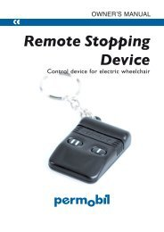Remote Stopping Device - Power wheelchairs - Permobil