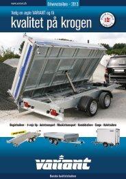 Vælg en ægte VARIANT og få Erhvervstrailere – 2013 - Auto Ole